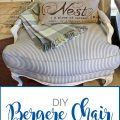 Sense & Serendipity | DIY Bergere Chair Makeover, french chair, chair makeover, DIY, reupholstery