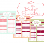 Money Saving Tips & FREE Budget Printables