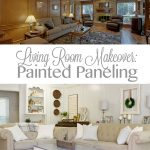 Living Room Makeover: Painted Paneling