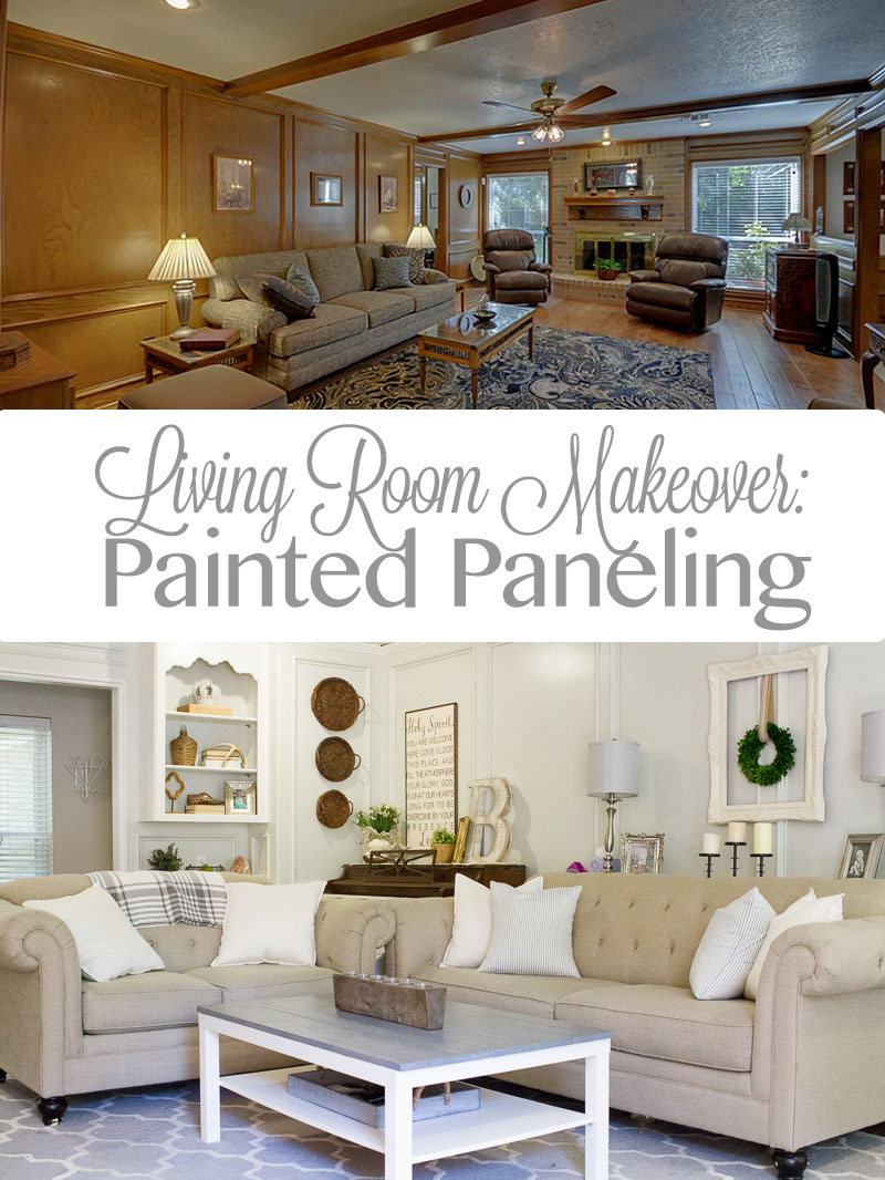 Panelled Room: Living Room Makeover: Painted Paneling