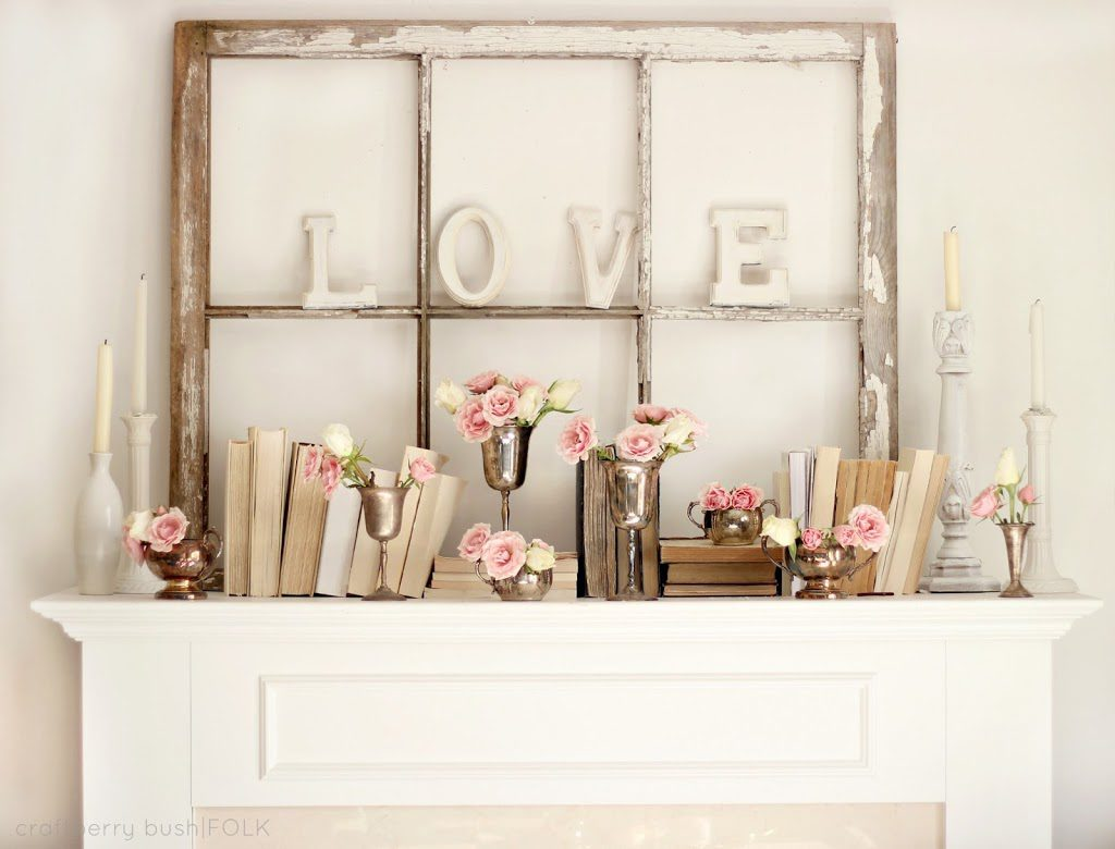 Neutral Valentine's Decor