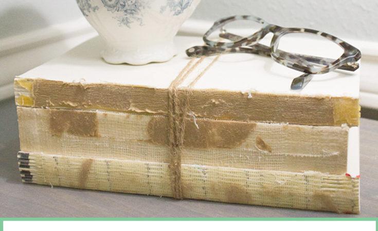Make Your Own Distressed Books {Restoration Hardware Knockoff}