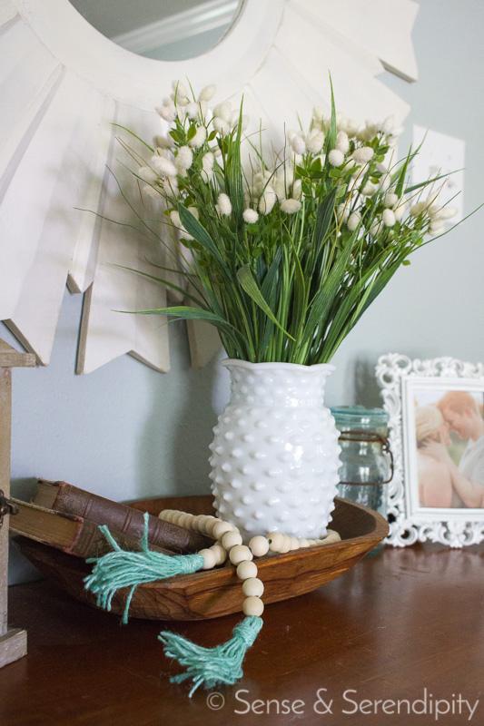 DIY Wood Bead Garland with Tassels | Sense & Serendipity