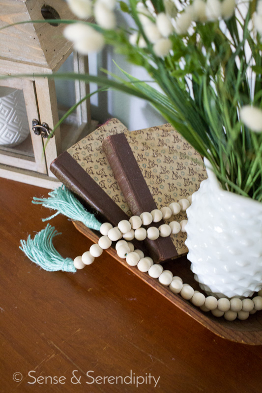 DIY Wood Bead Garland with Tassels | Sense & Serendipity