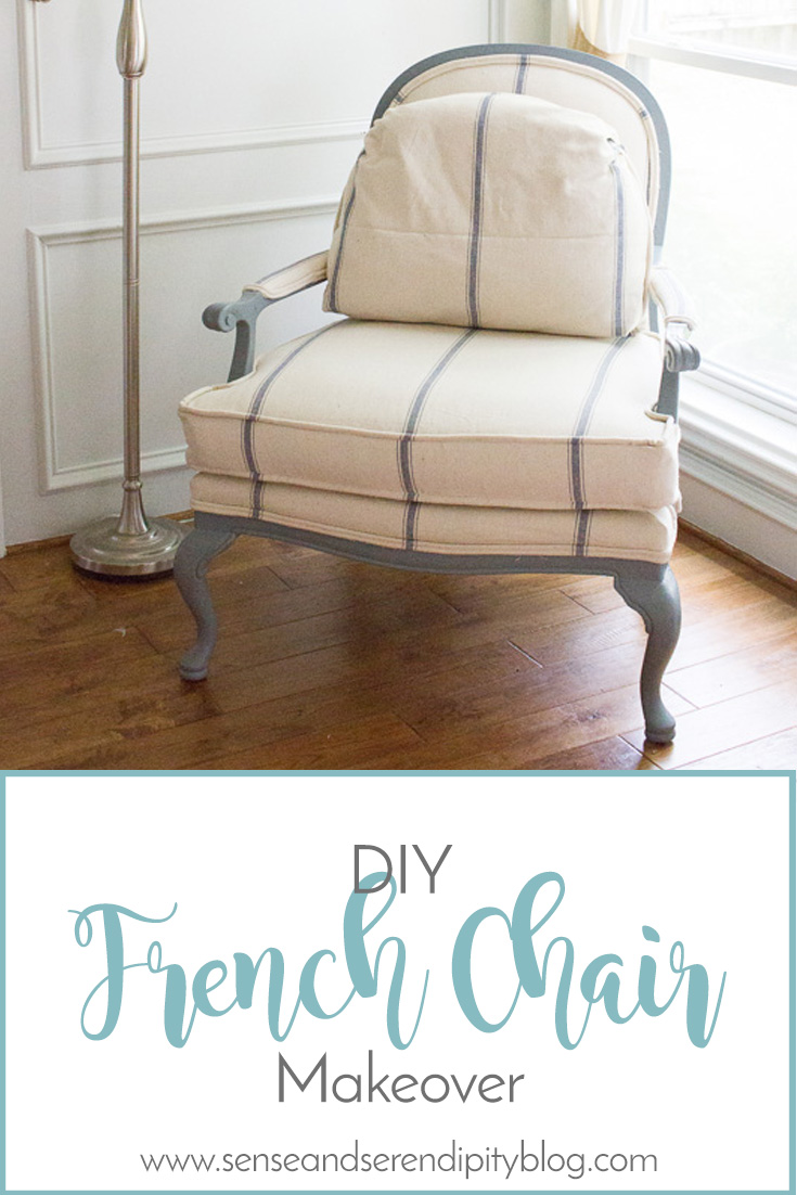 Sense U0026 Serendipity | DIY French Chair Makeover, Reupholstery, Diy  Reupholstery, Bergere Chair