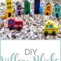 Sense & Serendipity | DIY Village Blocks, outdoor play, imagination, toddler crafts, DIY crafts, easy crafts, summer crafts