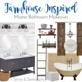 Sense & Serendipity | Farmhouse Inspired Master Bath Makeover, master bathroom, DIY, bathroom makeover, farmhouse decor, farmhouse style