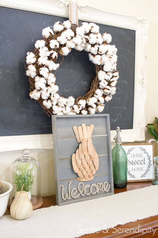 Driftwood Pineapple Welcome Sign | Sense & Serendipity