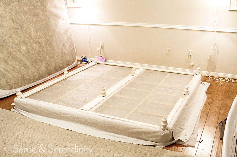DIY Upholstered Platform Bed | Sense & Serendipity