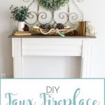 DIY Faux Fireplace Makeover