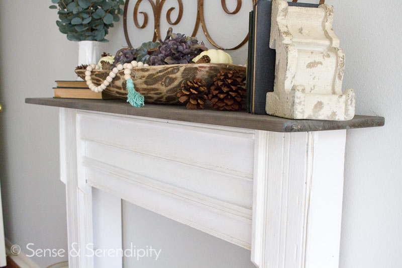 DIY Faux Fireplace Makeover | Sense & Serendipity