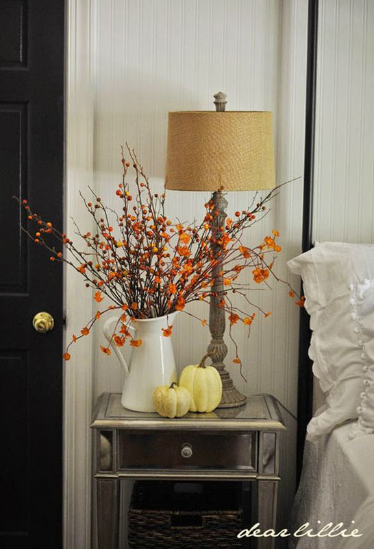 lovely fall decorating ideas bedroom | Room by Room Fall Decor: Bedrooms & Bathrooms | Sense ...