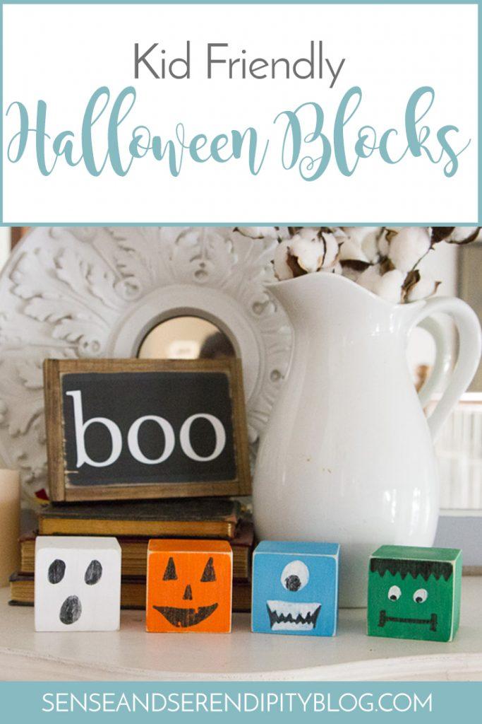 Kid Friendly Halloween Blocks