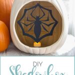 DIY Shadowbox Jack-o-Lantern