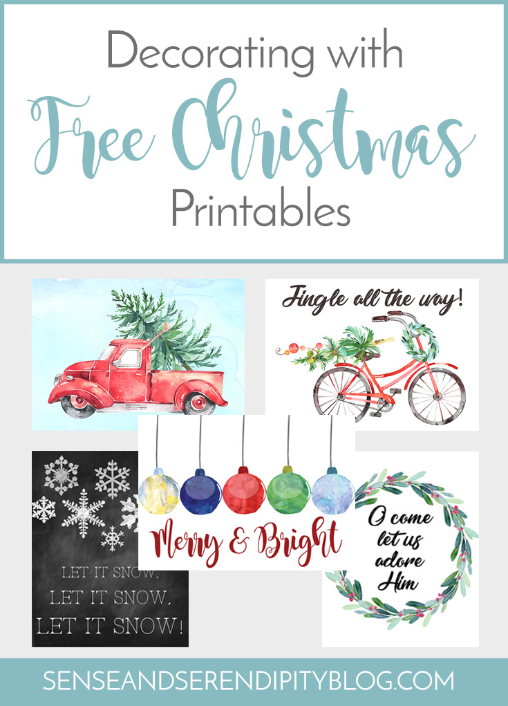 Decorating with {Free} Christmas Printables