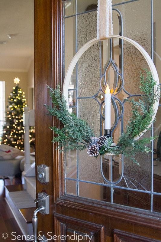 Simple & Elegant Christmas Wreath   Sense & Serendipity