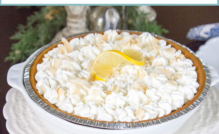 Meyer Lemon Pie With Coconut Whipped Cream