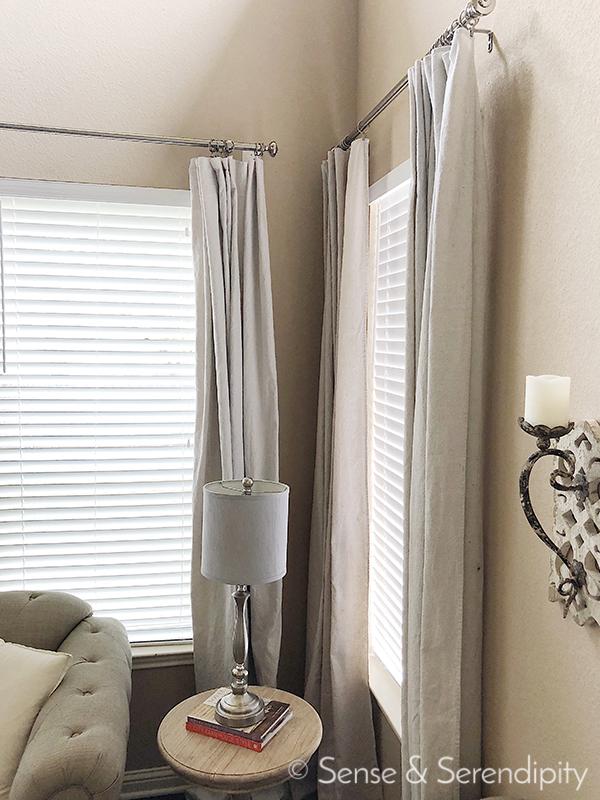 DIY Faux Linen Curtains   Sense & Serendipity