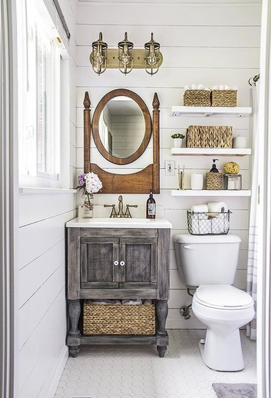 One Room Challenge Powder Room Makeover | Sense & Serendipity