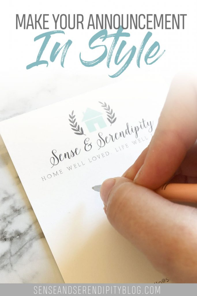 Make Your Announcement in Style | Sense & Serendipity