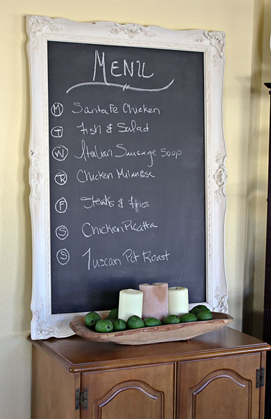 DIY: Framed Frenchy Chalkboard