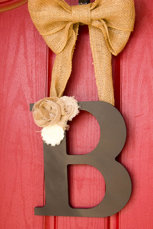Naptime Project: Simple and Sweet Letter Wreath