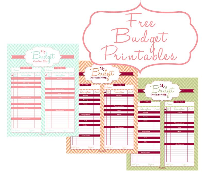 Money Saving Tips & FREE Budget Printables