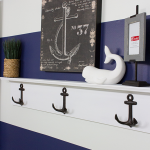 DIY Nautical Wall Shelf with Hooks