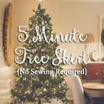 5-Minute Tree Skirt {No-Sew}