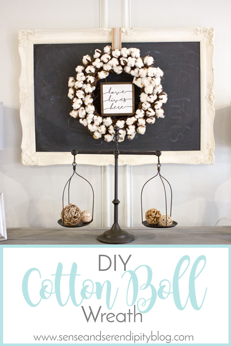 DIY Cotton Boll Wreath
