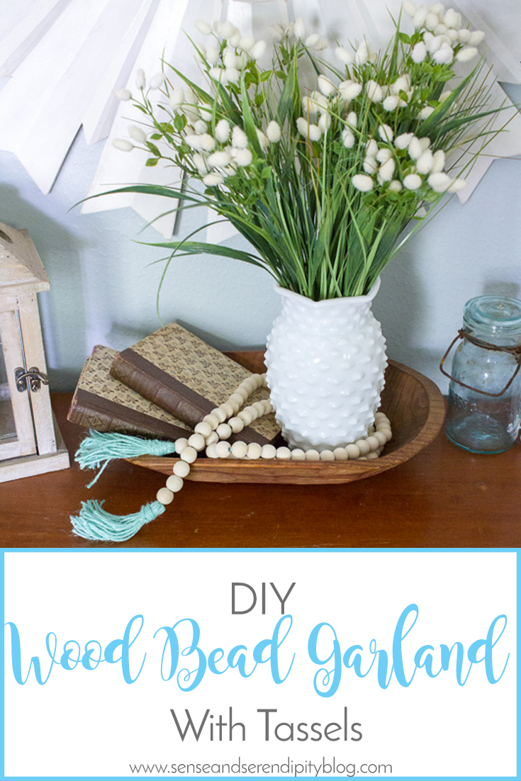 DIY Wood Bead Garland with Tassels