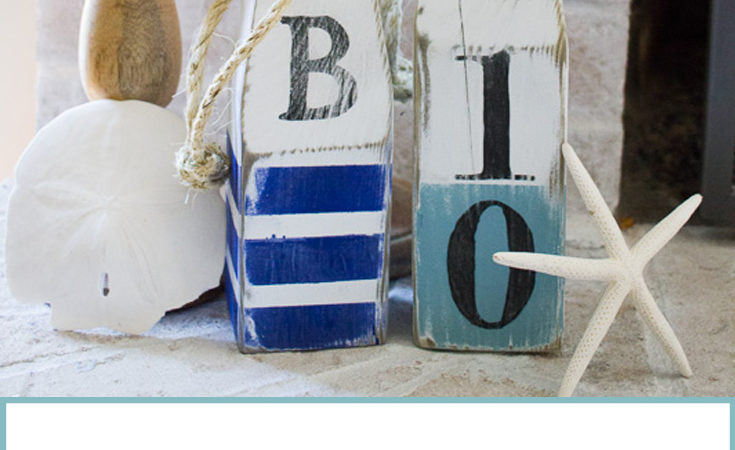 DIY Nautical Wood Buoys