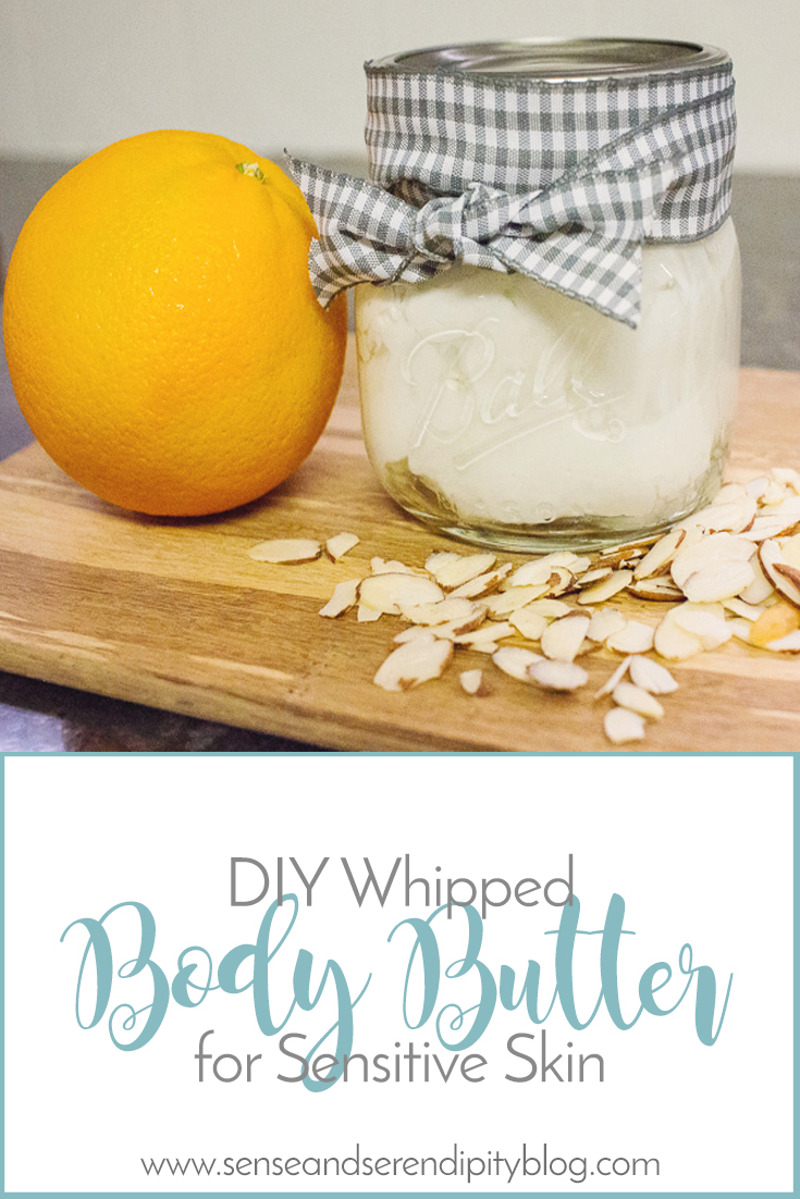 DIY Whipped Body Butter, natural lotion, sensitive skin