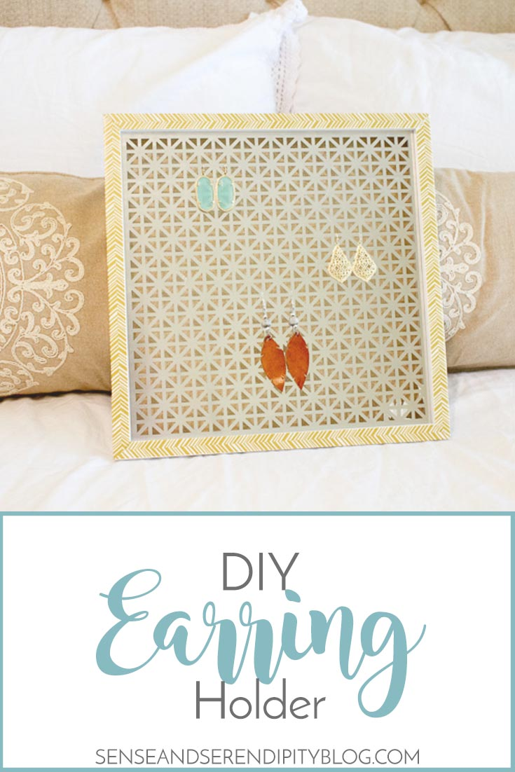 DIY Earring Holder | Sense & Serendipity