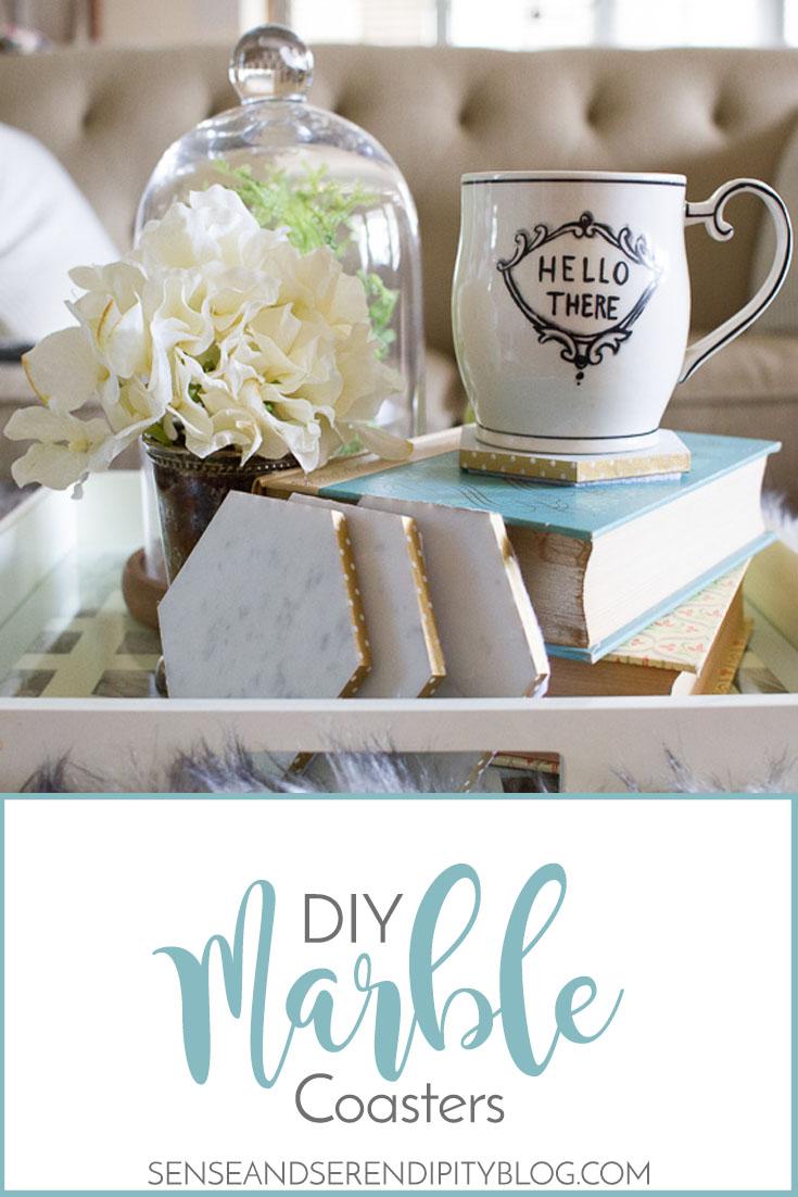 DIY Marble Coasters | Sense & Serendipity