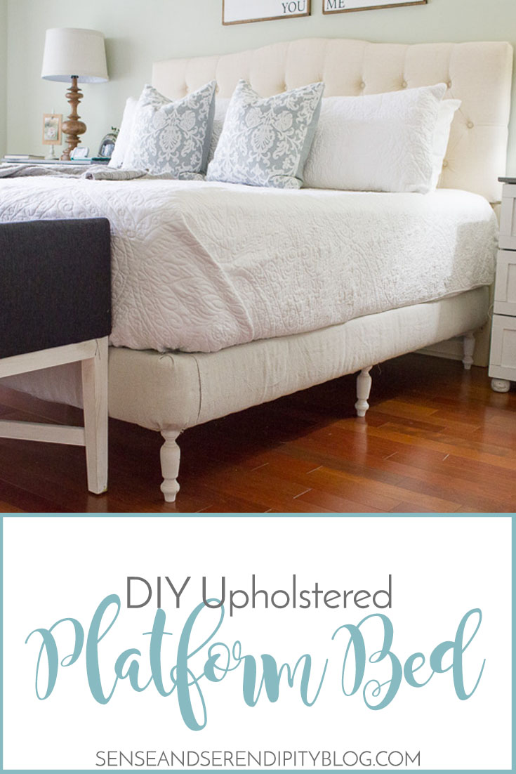 Diy Upholstered Platform Bed Sense Serendipity Make Your Own Bed Frame