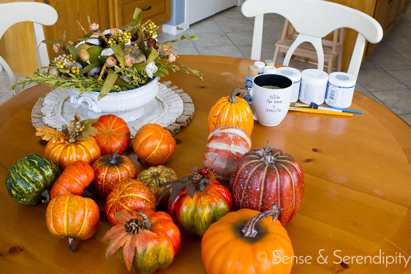 DIY Painted Pumpkins | Sense & Serendipity