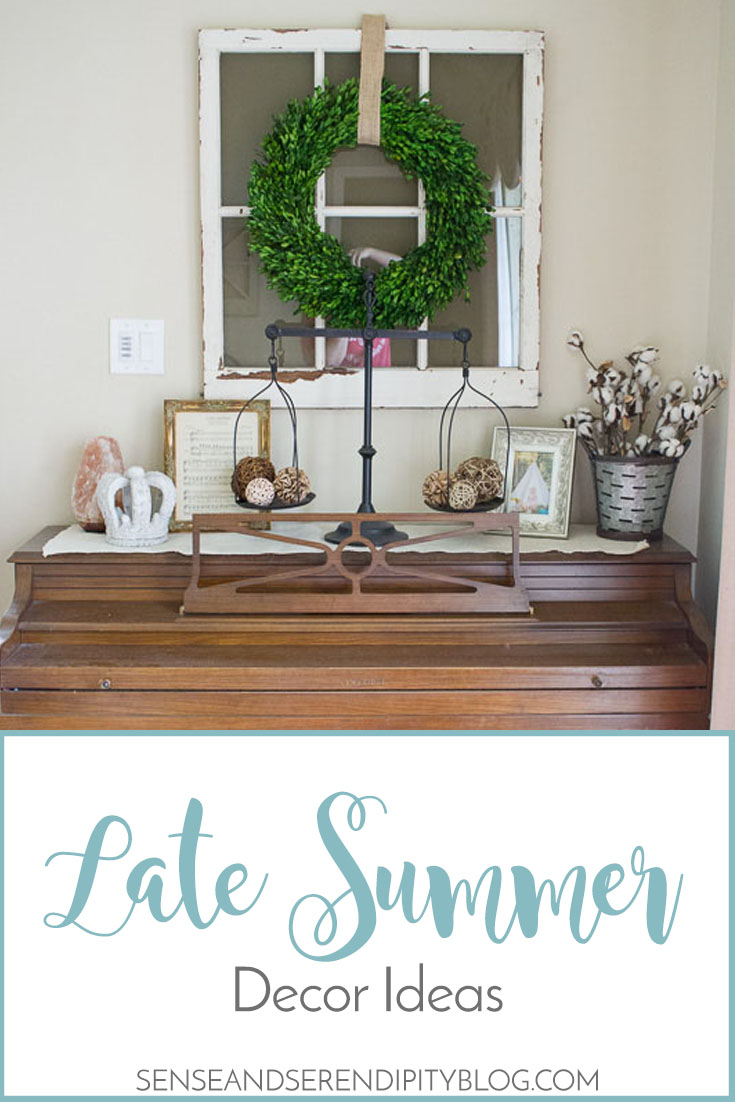 Late Summer Decor Ideas Sense Serendipity Decorating For Late Summer
