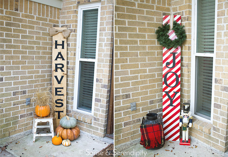 Double Sided Holiday Porch Sign | Sense & Serendipity