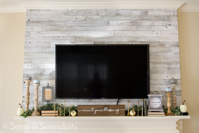 Quick & Easy Reclaimed Wood Feature Wall | Sense & Serendipity