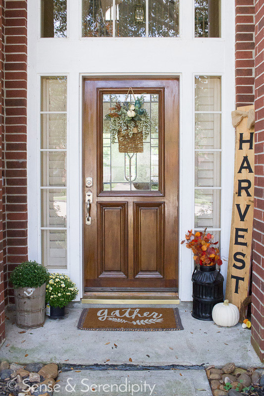 Double Sided Holiday Porch Sign   Sense & Serendipity