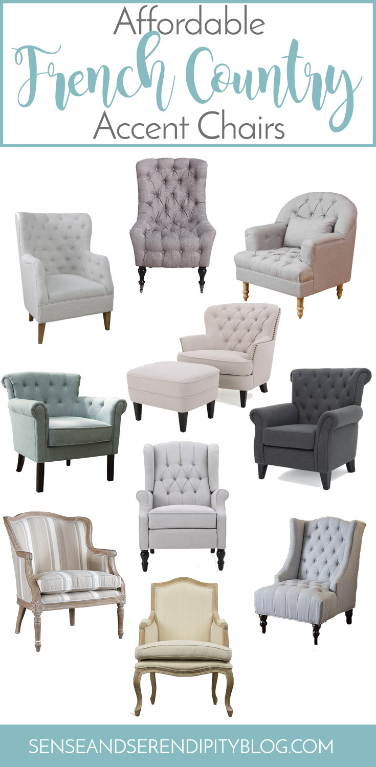 10 Affordable French Country Accent Chairs   Sense & Serendipity