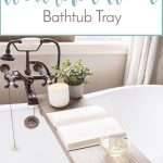 DIY Weathered Wood Bathtub Tray