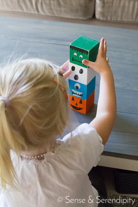 Kid Friendly Halloween Blocks | Sense & Serendipity