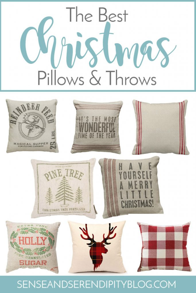 Best Christmas Pillows and Throws | Sense & Serendipity