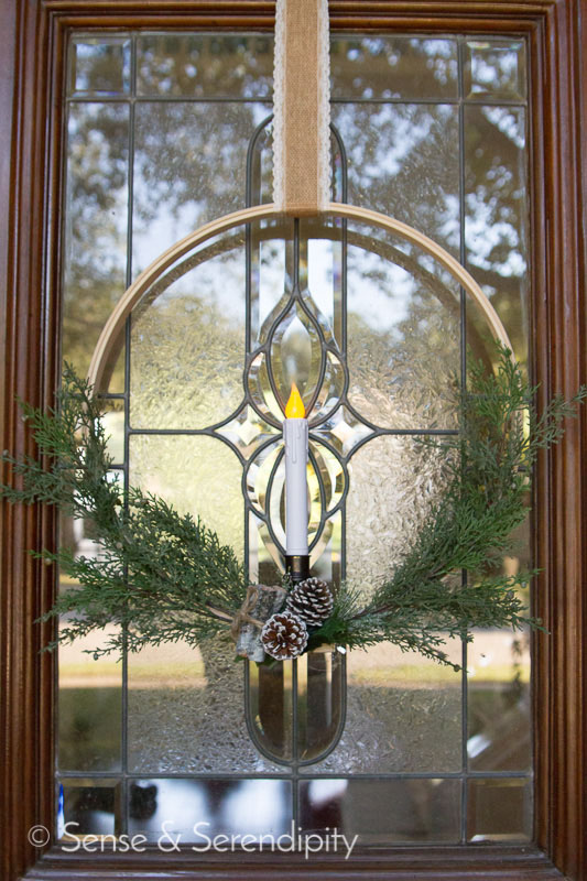 Simple & Elegant Christmas Wreath | Sense & Serendipity