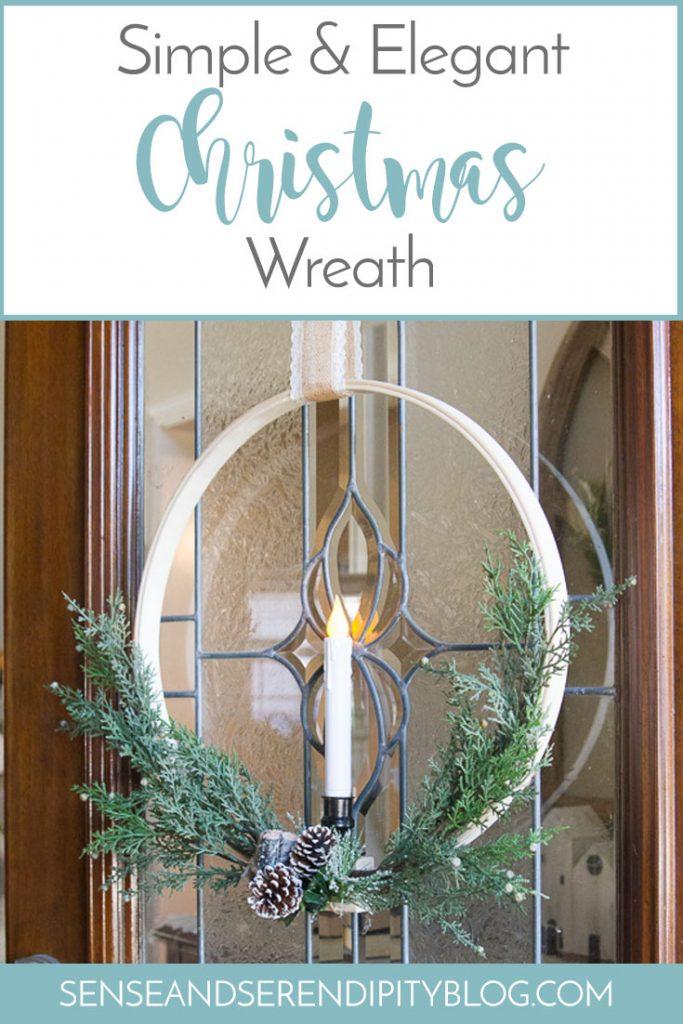 Simple & Elegant Christmas Wreath | Sense & Serendipity