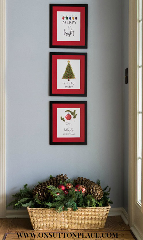 Decorating with Free Christmas Printables | Sense & Serendipity