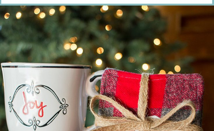 Festive Flannel Coasters Tutorial