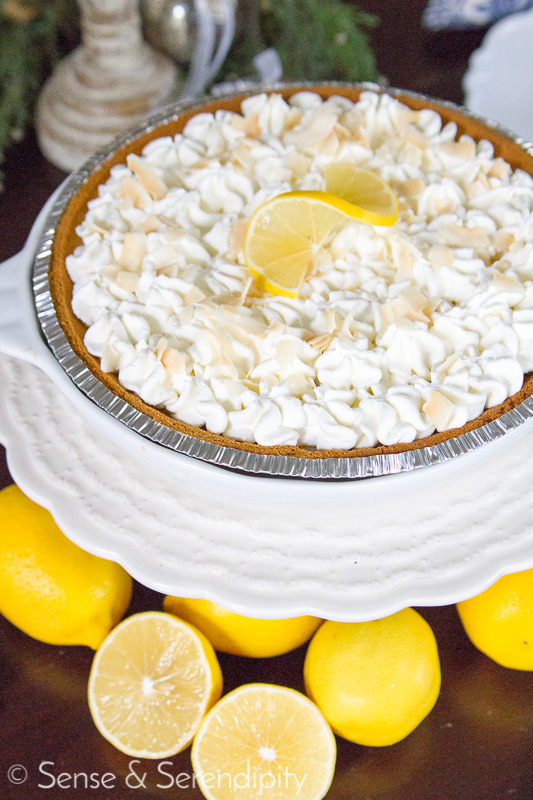 Meyer Lemon Pie | Sense & Serendipity